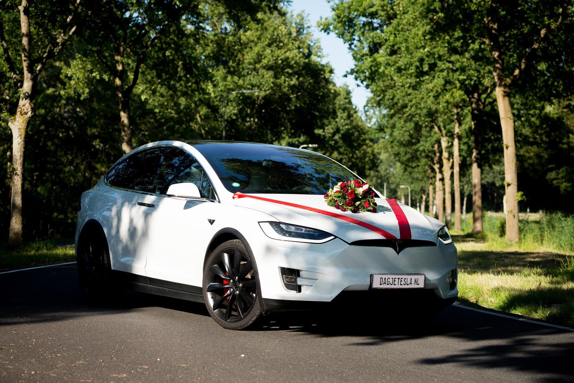 Tesla als bruidauto of trouwauto